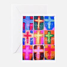 Crosses Set of 9 Greeting Cards (Pk of 10)
