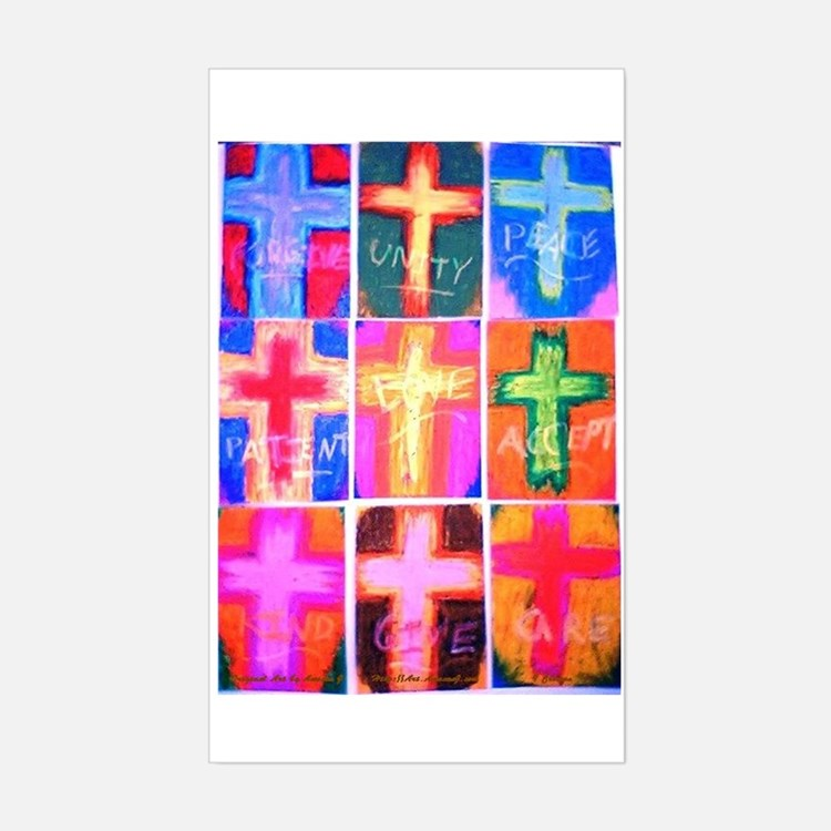 Crosses Set of 9 Rectangle Decal