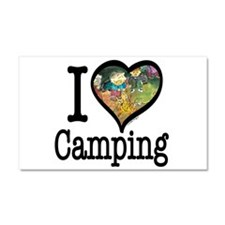 I Love Camping Car Magnet 20 x 12