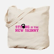 Strong is the New Skinny - Pink Kettlebell Tote Ba