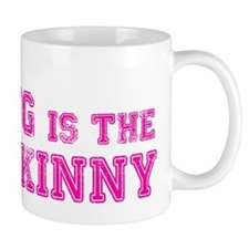 Strong is the New Skinny - Pink Kettlebell Mug