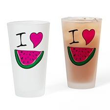 I Love Watermelon Drinking Glass
