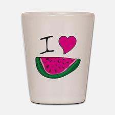 I Love Watermelon Shot Glass