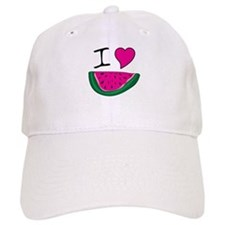 I Love Watermelon Baseball Cap