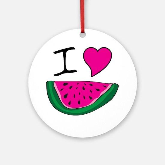 I Love Watermelon Ornament (Round)