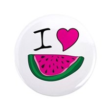 "I Love Watermelon 3.5"" Button"