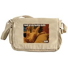 Look at my fuckin balls Messenger Bag