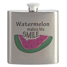 Watermelon Makes Me Smile Flask
