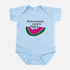 Watermelon Makes Me Smile Infant Bodysuit