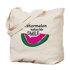 Watermelon Makes Me Smile Tote Bag