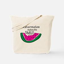 Watermelon Makes Me Smile Tote Bag