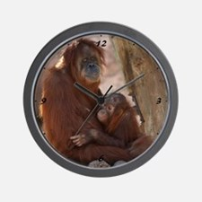 Orang Mother & Child 7374 Wall Clock
