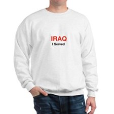 IRAQ I Served RED and Black Sweatshirt