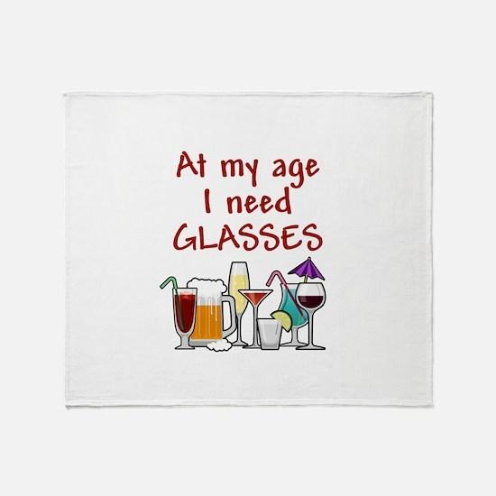 I need glasses Throw Blanket