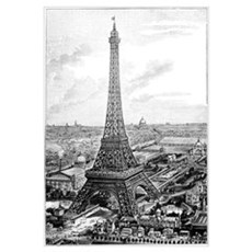 Eiffel Tower, 1889 Universal Exposition Poster