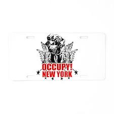 Occupy New York Aluminum License Plate