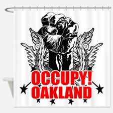 Occupy Oakland Shower Curtain
