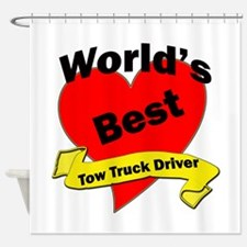 Funny Tow truck driver Shower Curtain