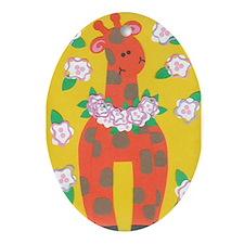 Ginger Giraffe Ornament (Oval)