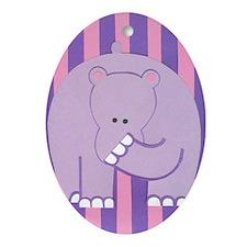 Hercules Hippo Ornament (Oval)