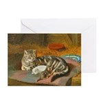 MAMA CAT & PUPPY Greeting Cards (Pk of 10)