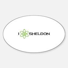 I Love Sheldon Sticker (Oval)