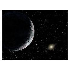 Dwarf planet Eris (UB313), artwork Poster