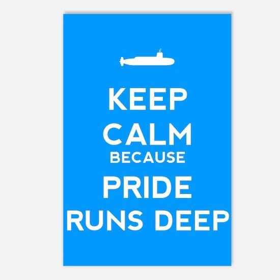 Keep Calm Because Pride Runs Deep Postcards (Packa