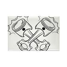 Pistons Rectangle Magnet