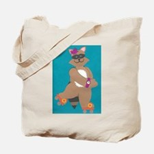 Robin Raccoon Tote Bag