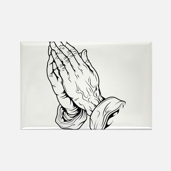 Praying Hands Rectangle Magnet