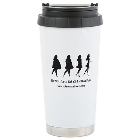 Fat Girl with a Plan travel mug - black