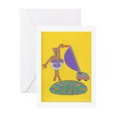 Violet Vole Greeting Card