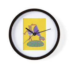 Violet Vole Wall Clock