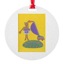 Violet Vole Ornament
