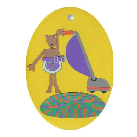 Violet Vole Ornament (Oval)