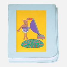 Violet Vole baby blanket