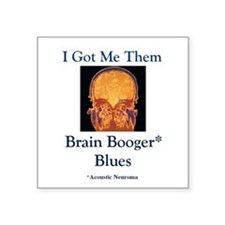 "Brain Booger Blues Square Sticker 3"" x 3&quot"