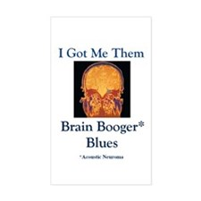 Brain Booger Blues Decal