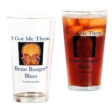 Brain Booger Blues Drinking Glass