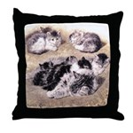 A STUDY OF CATS Throw Pillow
