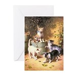 KITTENS PLAYING Greeting Cards (Pk of 10)