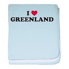 I Love Greenland baby blanket