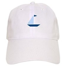 Blue Flag Sail Boat Baseball Cap