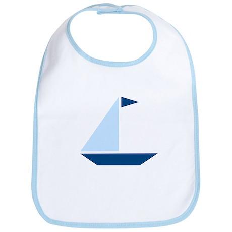 Blue Flag Sail Boat Bib