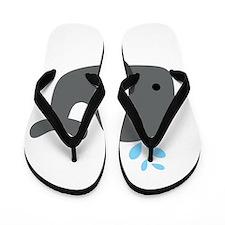 Gray Whale Flip Flops