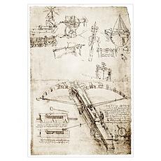 Da Vinci's crossbow Poster