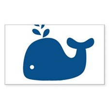 Navy Blue Silhouette Whale Decal
