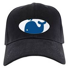 Navy Blue Silhouette Whale Baseball Hat