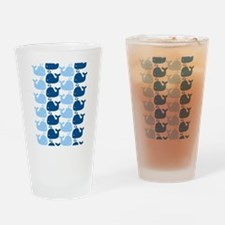 Whale Silhouette Print Drinking Glass